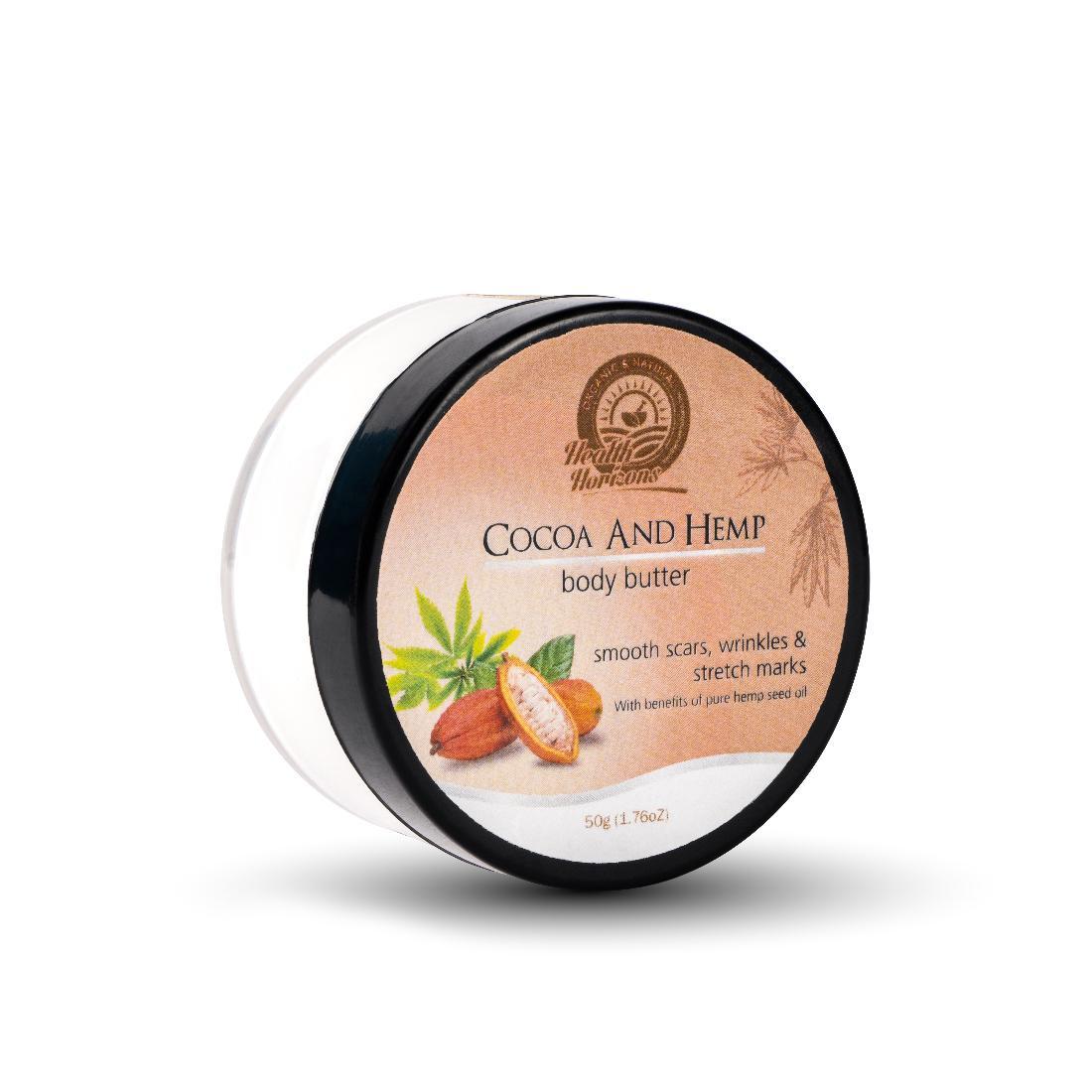 hemp based cocoa body butter