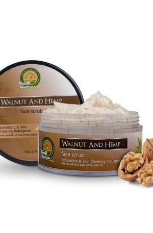 walnut hemp face scrub