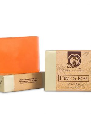 hemp rose organic soap