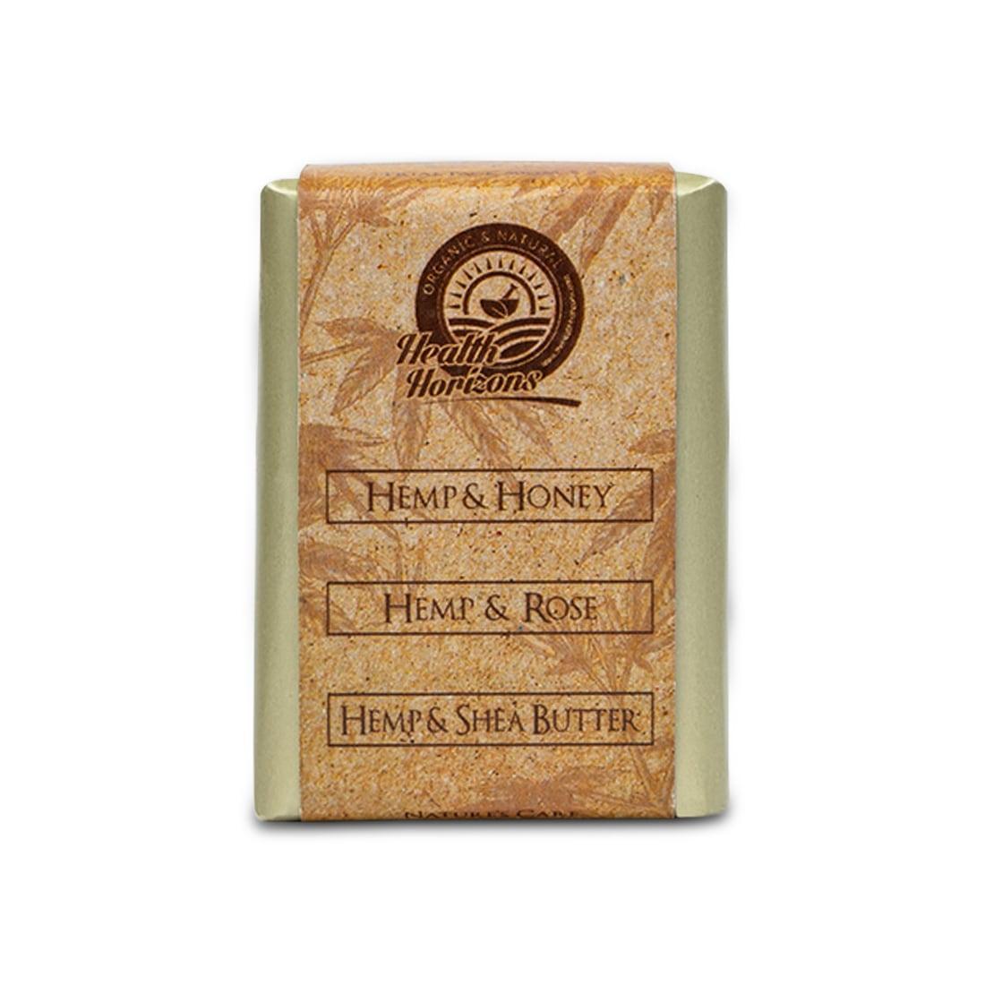 organic soap honey shea butter with hemp for glowing skin