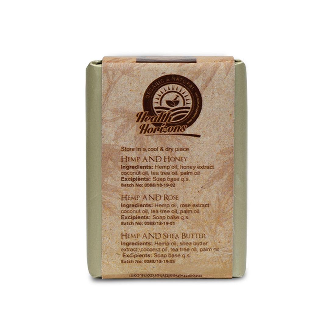 organic soap honey shea butter with hemp for skincare