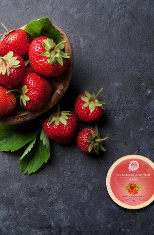 Hemp strawberry lip balm