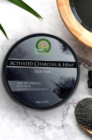 hemp face mask charcoal