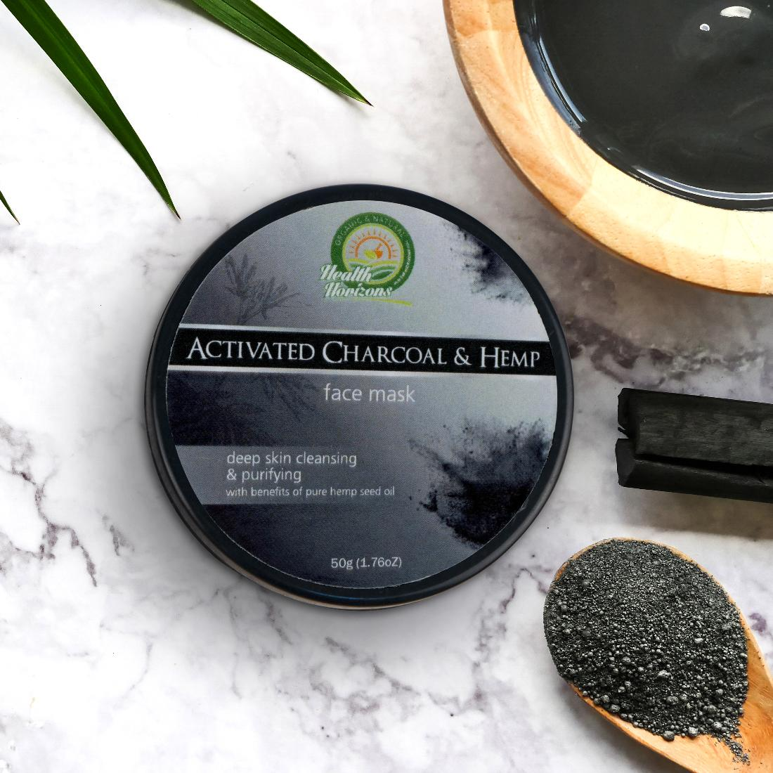 hemp face mask charcoal