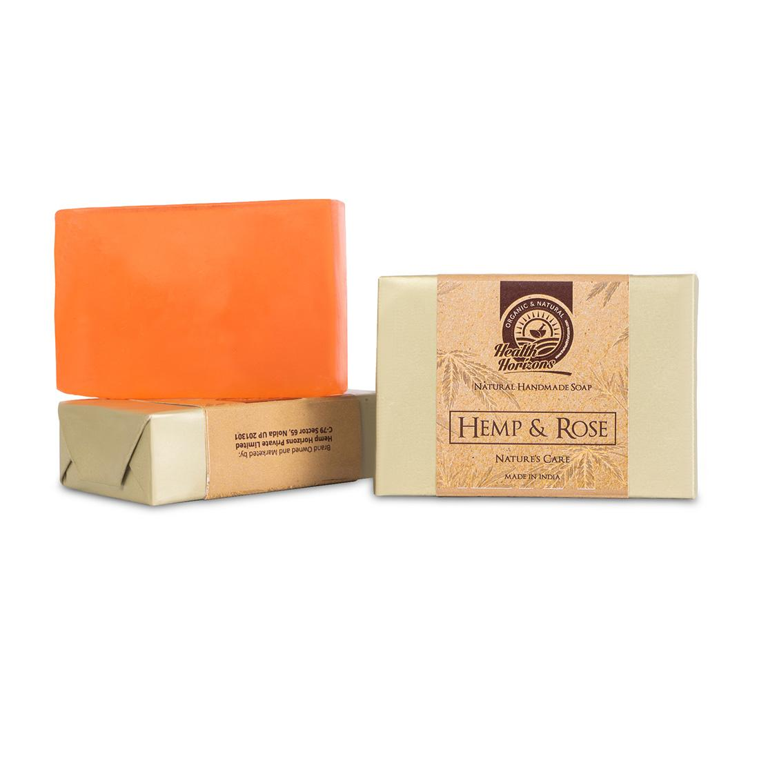 organic soap with rose extract and hemp pack 2