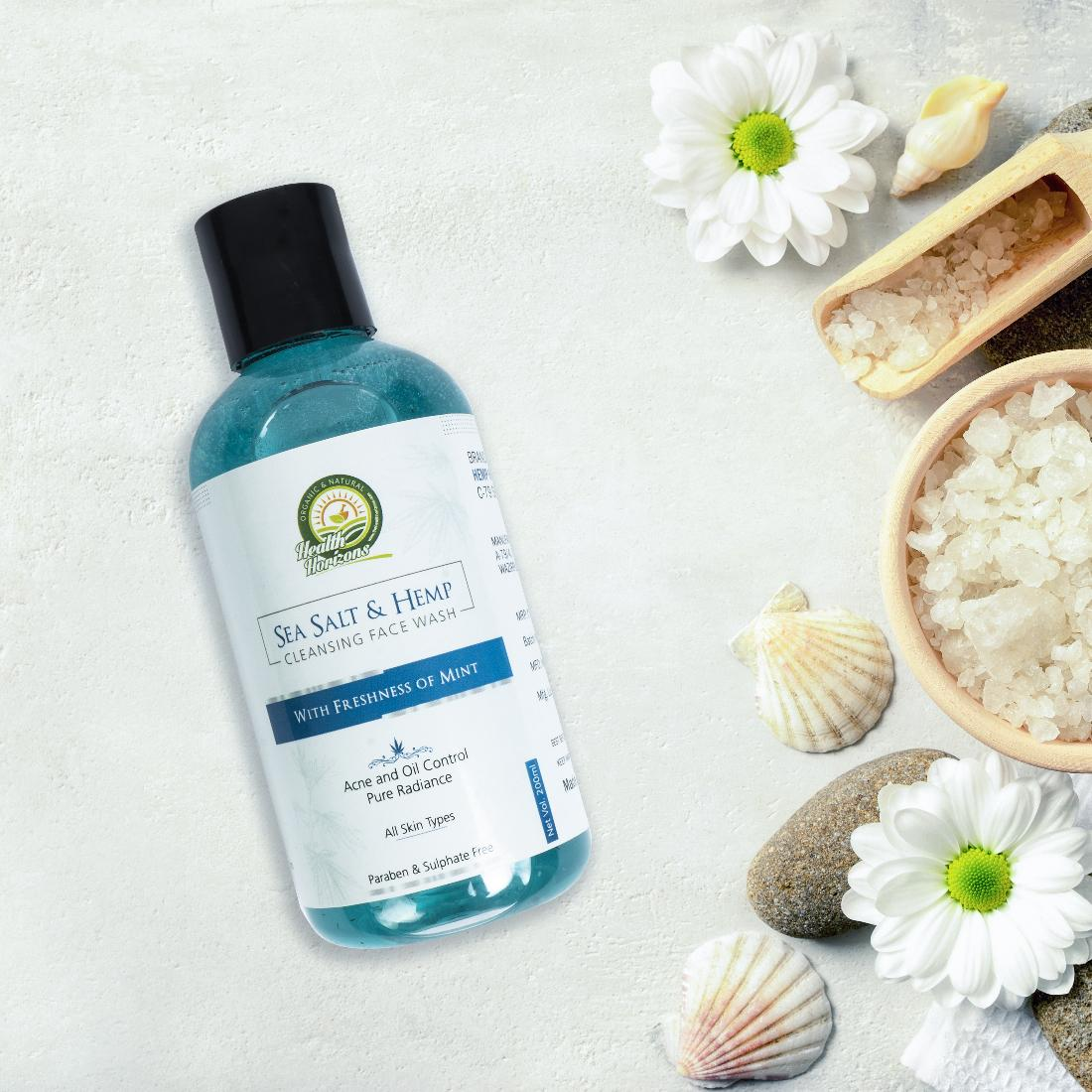 Hemp seasalt face wash